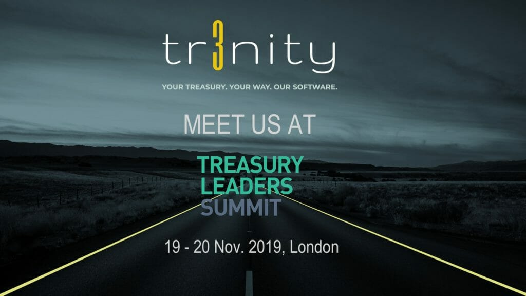 Trinity Treasury Management Systems at Treasury Leaders Summit, London, 2019